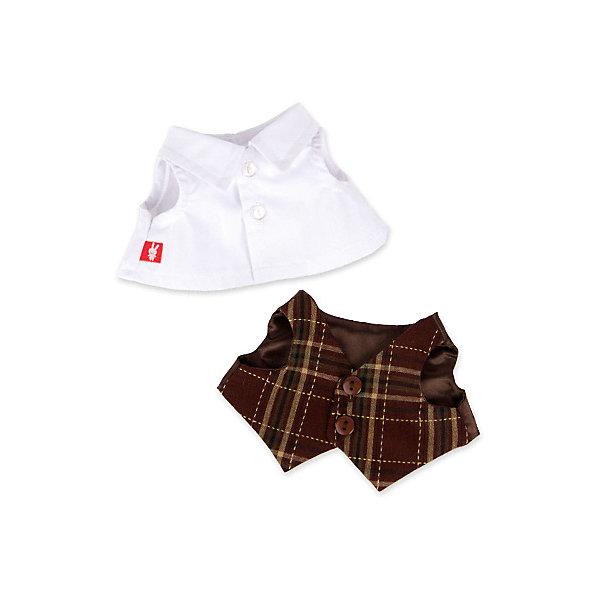 Budi Basa Комплект одежды Budi Basa для Зайки Ми-мальчика, 32 см, белая рубашка и жилет