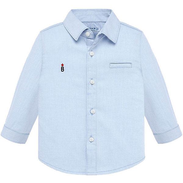 Купить Рубашка Mayoral, Индия, синий, 98, 80, 68, 92, 86, 74, Мужской