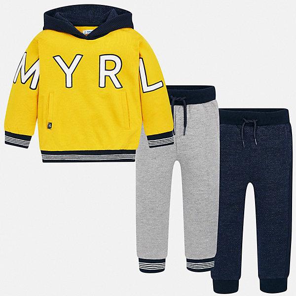 Купить Спортивный костюм Mayoral, Китай, желтый, 116, 92, 128, 110, 104, 134, 122, 98, Мужской