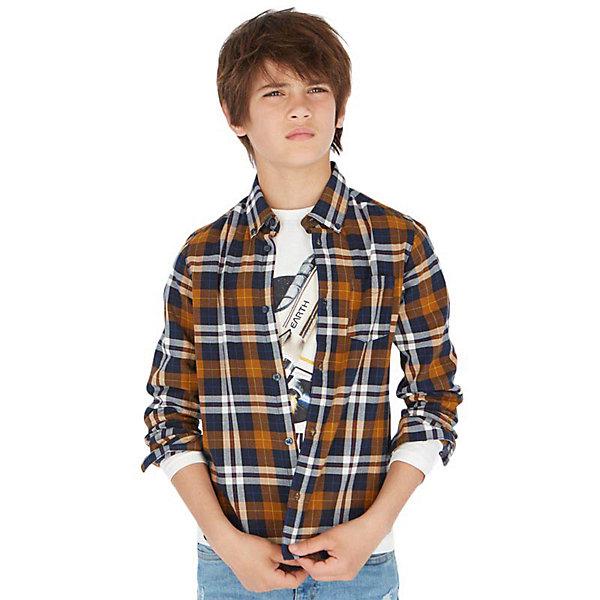 Купить Рубашка Mayoral, Индия, коричневый, 152, 160, 128, 164, 140, 167/172, Мужской