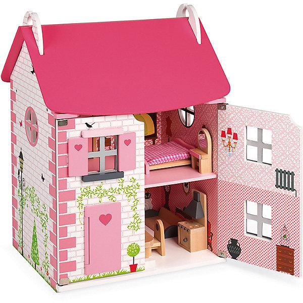 Купить Кукольный домик Janod Мадемуазель , 11 элементов мебели, Китай, розовый, Женский
