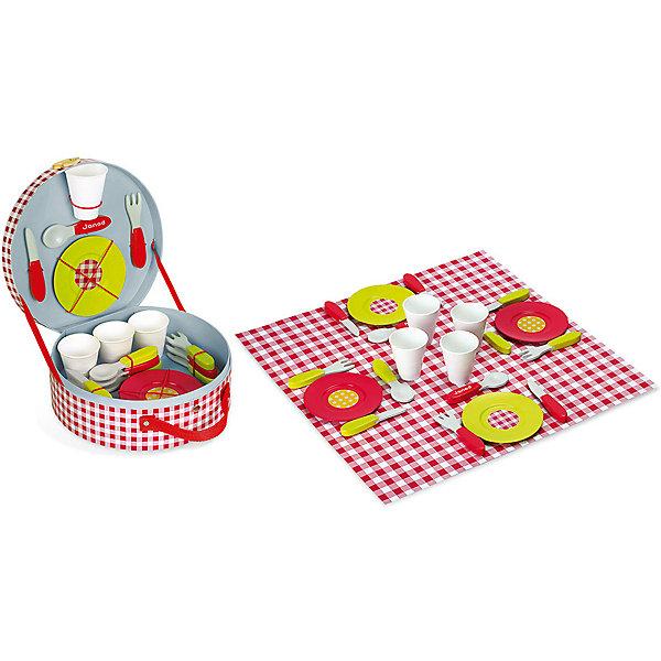 Janod Набор посуды Пикник, 21 предмет
