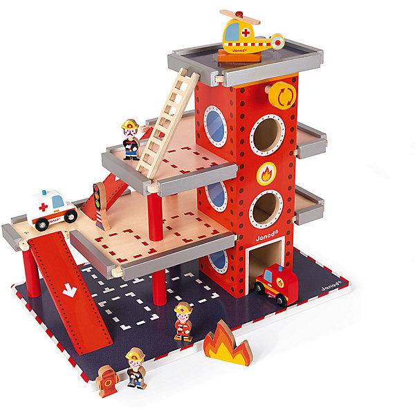 Janod Игровой набор Janod Пожарная станция цена