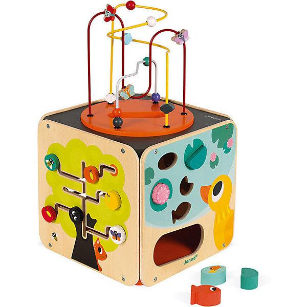 цена на Janod Развивающий куб Janod, с комплектом игр
