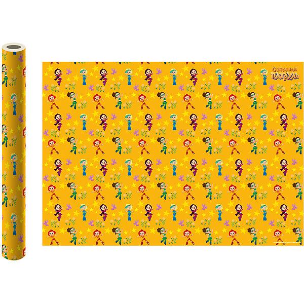 ND Play Упаковочная бумага «Сказочный патруль», желтая