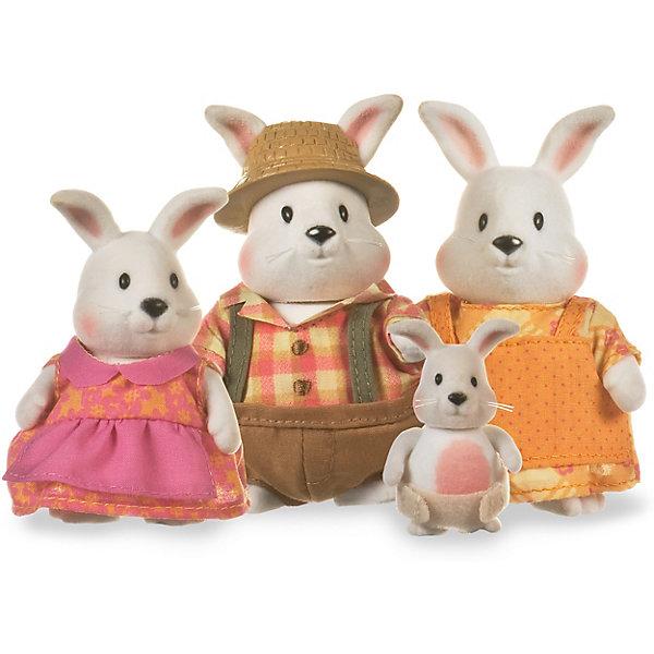 Lil Woodzeez Игровой набор Семья кроликов