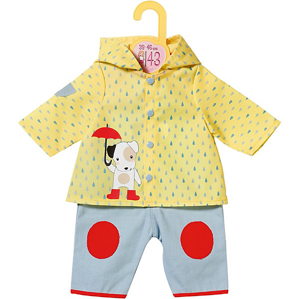 Zapf Creation Одежда для куклы Zapf Creation Baby Born Комбинезон и курточка от дождя карапуз комплект одежды для куклы курточка и брючки цвет розовый