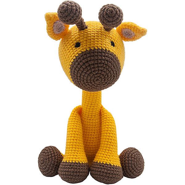 Купить Вязаная игрушка Niki Toys Жираф Марли, 40см, Россия, желтый, Унисекс