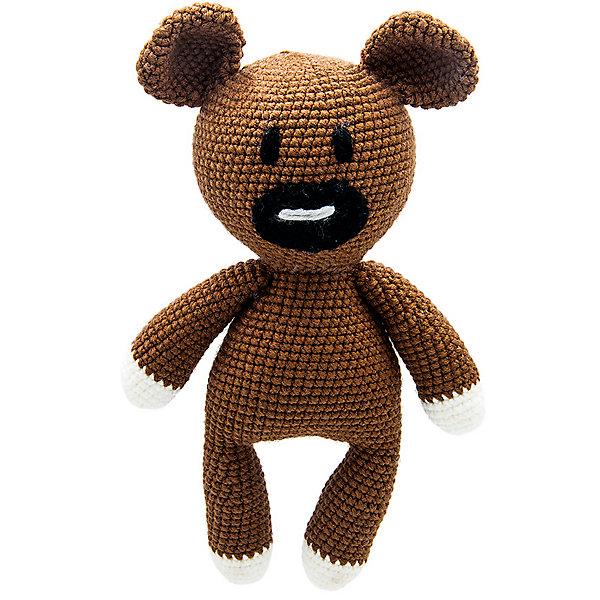 Niki Toys Вязаная игрушка Niki Toys Мишка Бруно, 30см игрушка ручной работы мишка кирюша