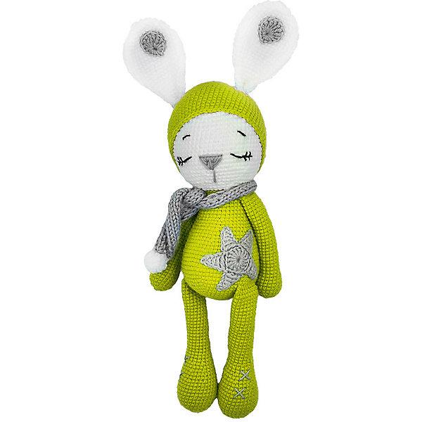Niki Toys Вязаная игрушка Зайчонок Астерикс, салатовый, 45см