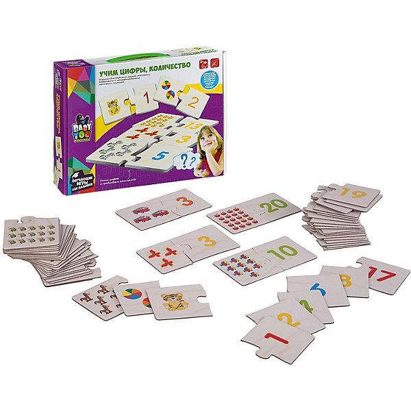 Bondibon Набор карточек-пазлов Bondibon Учим цифры, количество