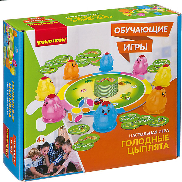 Bondibon Настольная игра Bondibon Обучающие игры Голодные цыплята голодные бегемотики настольная игра 98936