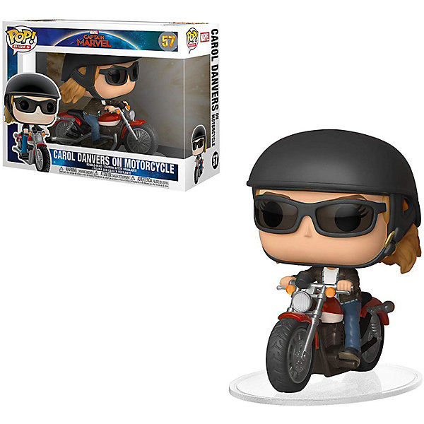 Funko Фигурка POP! Rides: Marvel Капитан Марвел, Кэрол Дэнверс на мотоцикле, 36418