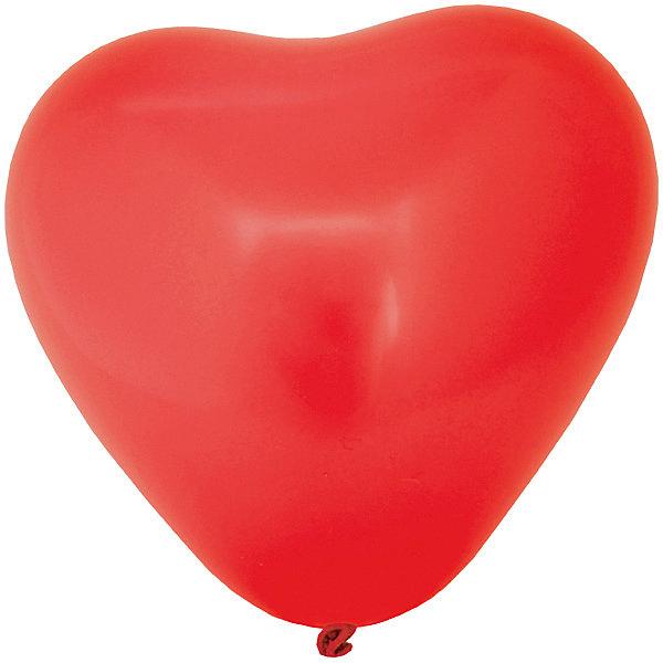 """ACTION! Воздушные шары Action! """"Сердечки"""" разноцветные, 5 шт"""