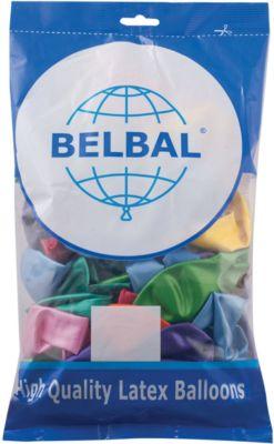Веселая Затея Воздушные шары Веселая затея, 50 шт, металлик товары для праздника zippy шары воздушные 25 см 50 шт