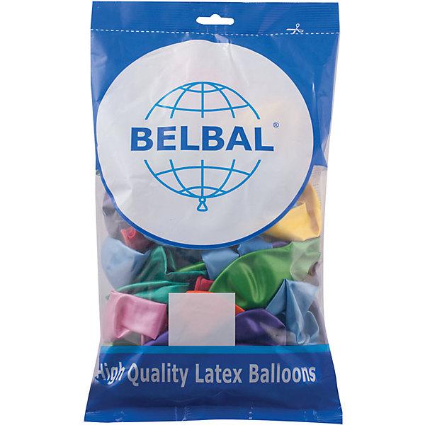 Веселая Затея Воздушные шары затея, 50 шт, металлик