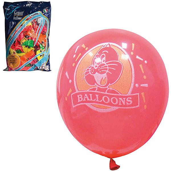 Веселая Затея Воздушные шары затея, 100 шт, неоновые