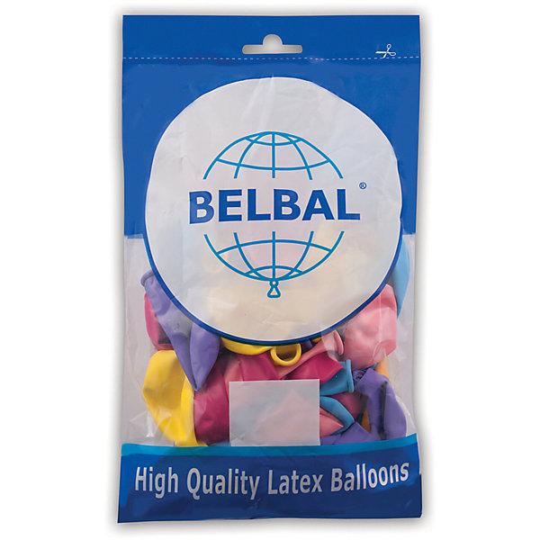 Веселая Затея Воздушные шары затея, 50 шт, пастель