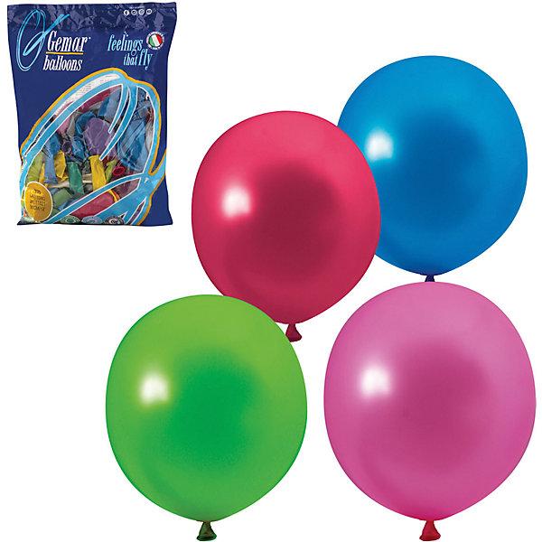 Веселая Затея Воздушные шары затея, 100 шт, металлик