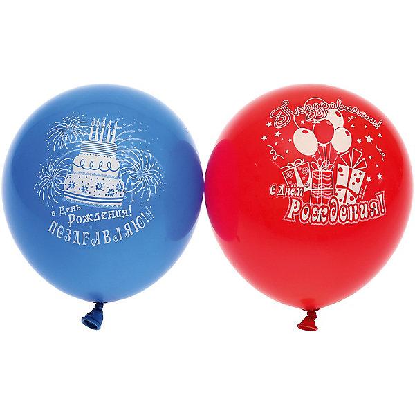 """Belbal Воздушные шары Belbal с рисунком """"Поздравляем с днем рождения!"""" 50 шт"""