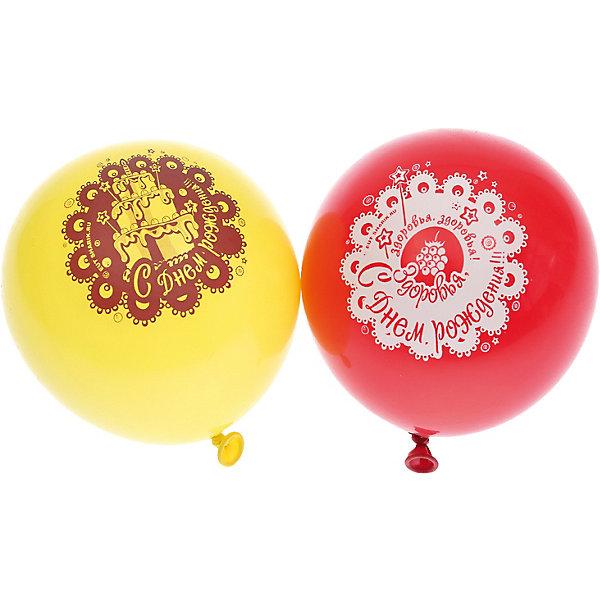 """Belbal Воздушные шары Belbal с рисунком """"С днем рождения!Пожелания"""" 50 шт"""