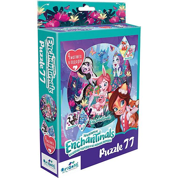 Пазл Enchantimals Полянка чудес, 77 элементов, с магнитами Origami   11887365