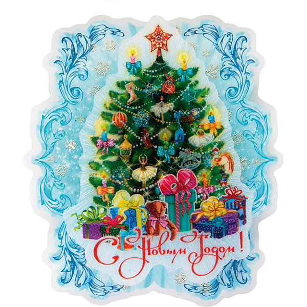Феникс-Презент Новогоднее украшение Fenix-present Пушистая елочка, с подсветкой
