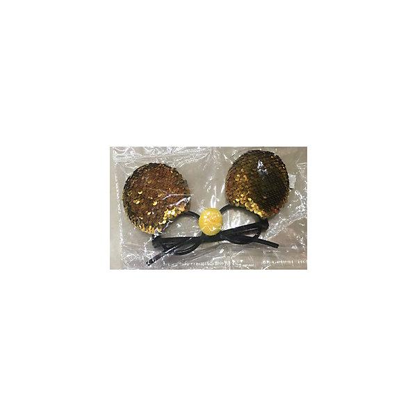 Феникс-Презент Карнавальные очки Fenix-present Золотистые пайетки