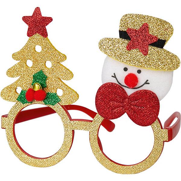 Феникс-Презент Маскарадные очки Fenix-present Снеговик с елкой новогодний шарик с елкой