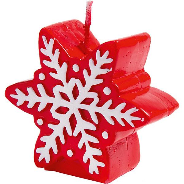 Феникс-Презент Свеча Fenix-present Красная снежинка феникс презент свеча fenix present снегурка в красном