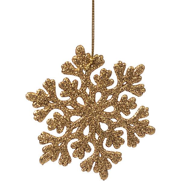 Феникс-Презент Украшение Fenix-present Снежинка ажурная, золотое
