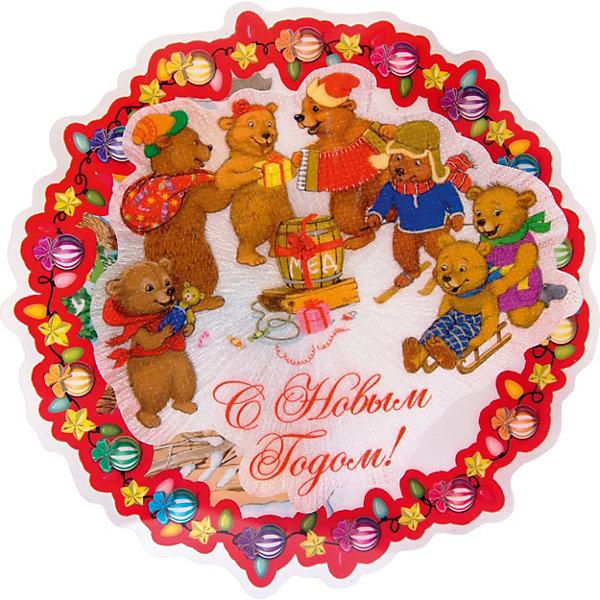 Феникс-Презент Новогоднее украшение Fenix-present Медвежата, с подсветкой украшение новогоднее monte christmas