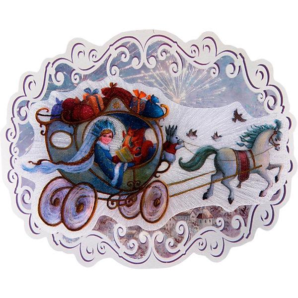 """Картинка для Новогоднее украшение Fenix-present """"Новогодняя колесница"""", с подсветкой"""