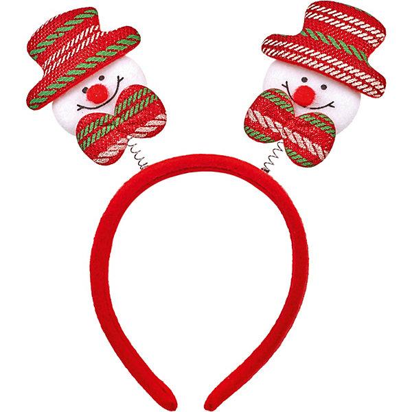 Феникс-Презент Ободок Fenix-present Снеговик в красно-зеленой шляпе