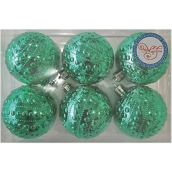 Феникс-Презент Набор украшений Fenix-present Зеленые бусинки, 6 шт феникс презент набор для ванной и бани бежевый мишка 6 предметов