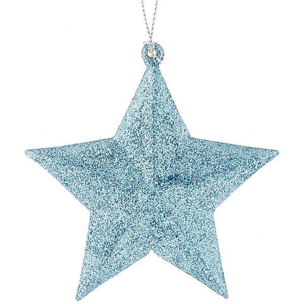Феникс-Презент Украшение Fenix-present Звезда в голубом глиттере