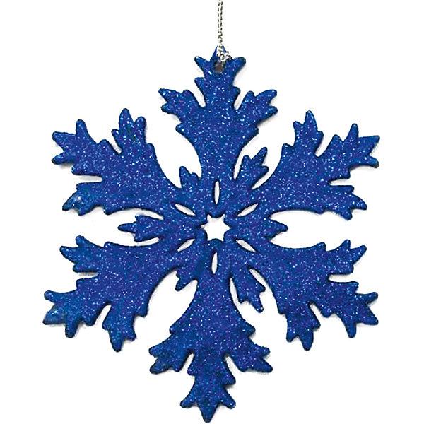 Феникс-Презент Украшение Fenix-present Снежинка в синем глиттере