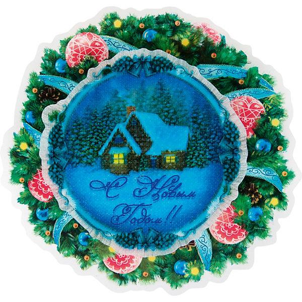 """Картинка для Новогоднее украшение Fenix-present """"Новогодний венок"""", с подсветкой"""