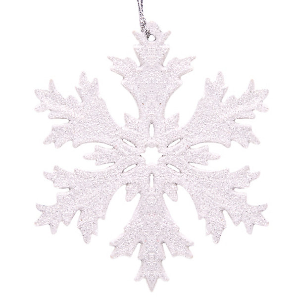 Феникс-Презент Украшение Fenix-present Снежинка в белом глиттере