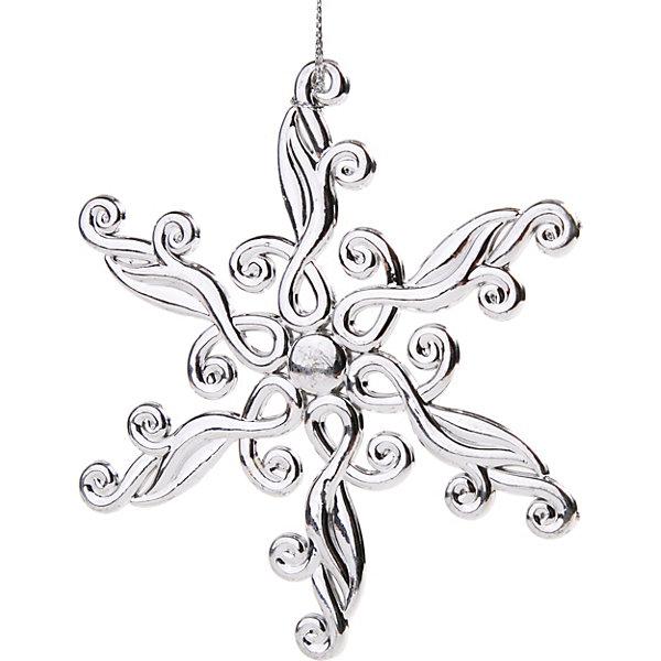 Феникс-Презент Украшение Fenix-present Снежинка блестящая, серебрянный