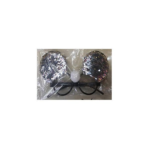 Феникс-Презент Карнавальные очки Fenix-present Серебристые пайетки