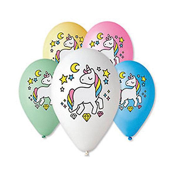 Belbal Воздушные шары Единонорог, с рисунком, 50 шт