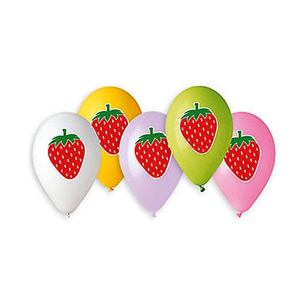 Belbal Воздушные шары Belbal Клубника, с рисунком, 50 шт