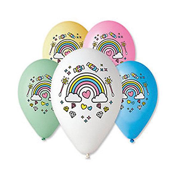 Belbal Воздушные шары Belbal Единонорог. Радуга, с рисунком, 50 шт
