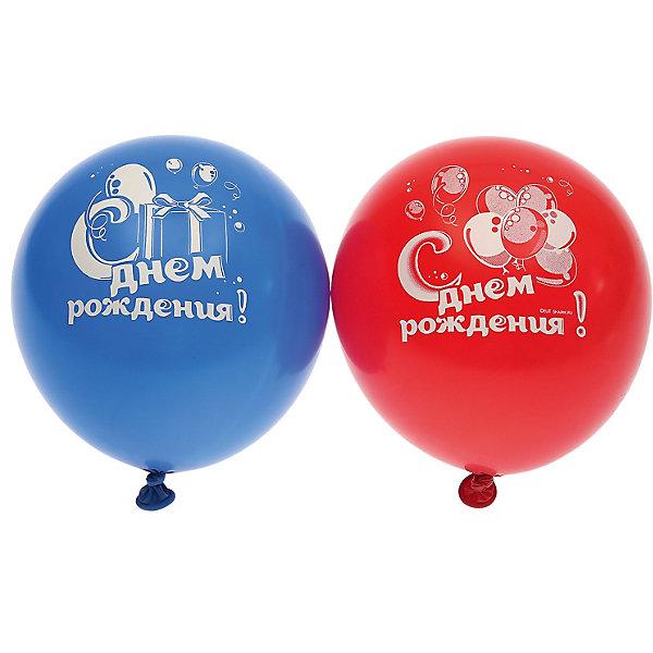 """Belbal Воздушные шары Belbal """"День рождения: Мишка с тортом"""", с рисунком, 50 шт"""