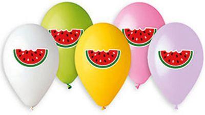 Belbal Воздушные шары Belbal Арбуз, с рисунком, 50 шт товары для праздника zippy шары воздушные 25 см 50 шт
