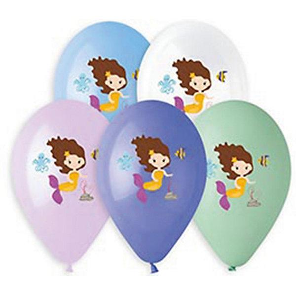 Belbal Воздушные шары Русалочка, с рисунком, 50 шт