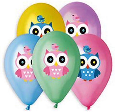 Belbal Воздушные шары Belbal Совушка, металлик, с рисунком, 50 шт товары для праздника zippy шары воздушные 25 см 50 шт