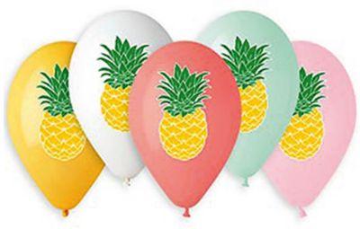 Belbal Воздушные шары Belbal Ананас, с рисунком, 50 шт товары для праздника zippy шары воздушные 25 см 50 шт