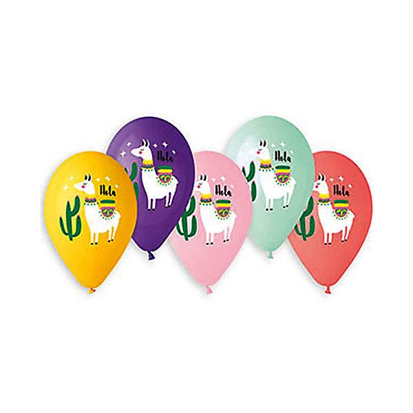 Belbal Воздушные шары Лама hola, с рисунком, 50 шт